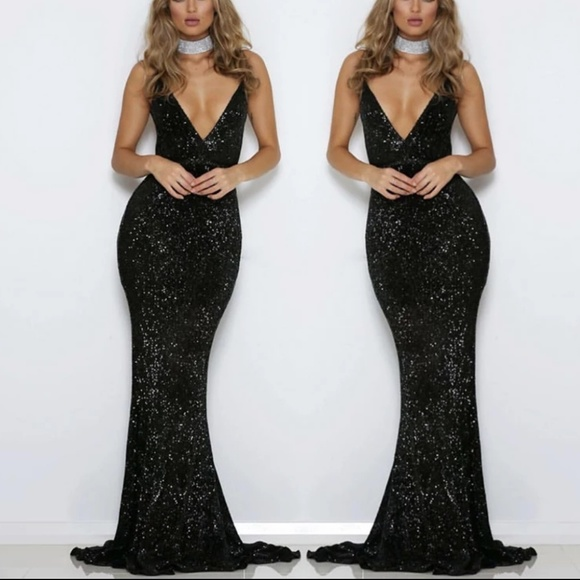 Dresses | Sequined Maxi Dress Evening Gown | Poshmark